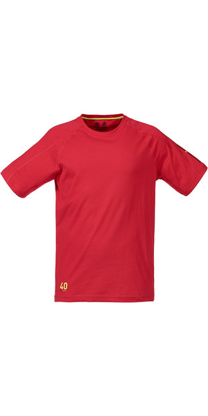 Musto Evolution Logo Kurzarm T-Shirt in TRUE RED SE1361