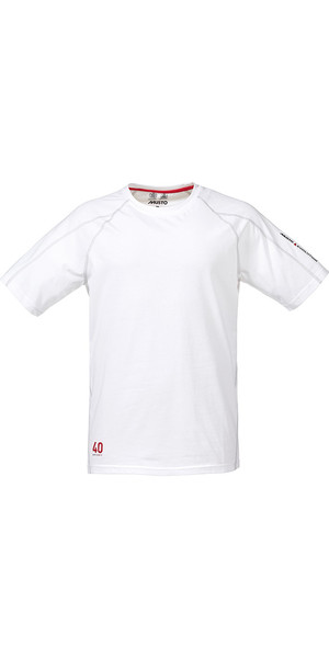 Musto Evolution Logo Kurzarm T-Shirt in WEISS SE1361