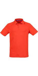 Musto Mens Evolution Sunblock Short Sleeved Polo Top FIRE ORANGE SE0264