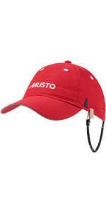 2021 Musto Fast Dry Crew Cap in RED AL1390