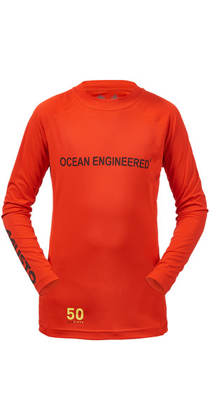Musto Junior Insignia T-shirt manica lunga T-shirt FIRE ORANGE KS007J0