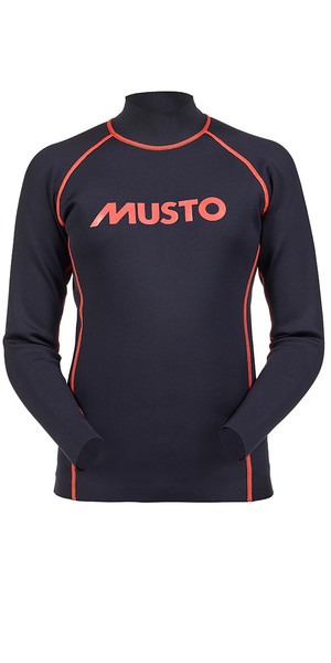 Musto Junior de manga larga neopreno Top Negro / Fuego Naranja KS112J0