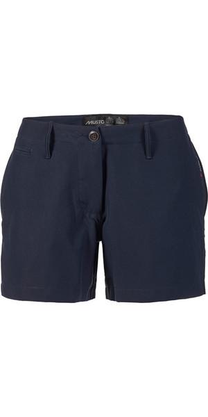Musto Frauen wichtige UV Schnellen Dry 4 Taschen Shorts Navy SE2070
