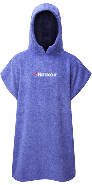 2019 Northcore KIDS Beach Basha Robe de Changement / Poncho BLUE NOCO24D