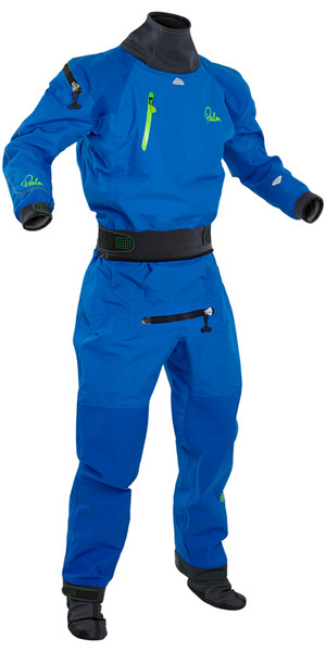2018 Palm Atom Back Zip Whitewater Kayak Drysuit Blue  11735