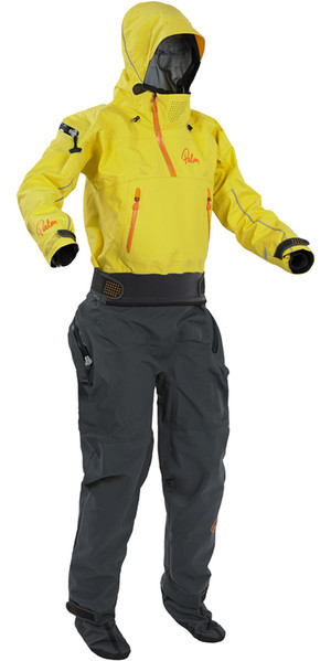 2018 Palm Womens Bora Touring Relief Zip Kayak Drysuit Yellow 11740