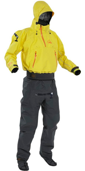 2018 Palm Mens Bora Touring Drysuit kayak jaune 11739