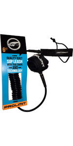2018 Prolimit Coiled Double Swivel SUP Leash Black 6ft 00595