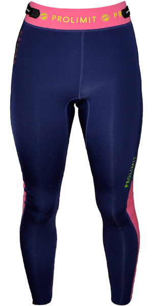 Prolimit Ladies SUP Pantalones de neopreno de 2 mm AZUL / Rosa 64730