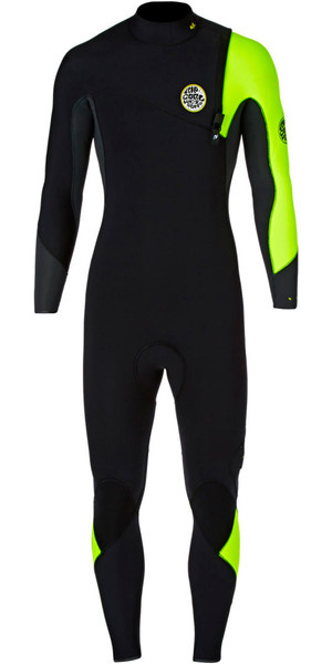 Rip Curl E-Bomb Pro 3/2mm GBS Zip Free Wetsuit Fluro Lemon WSM5RE