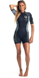 Rip Curl Dawn Patrol 2mm Back Zip Spring Shorty Wetsuit Black / Fluro Lemon WSP4FW