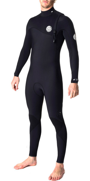 Rip Curl Flashbomb 4/3mm Zip Free Wetsuit BLACK WSM6SF
