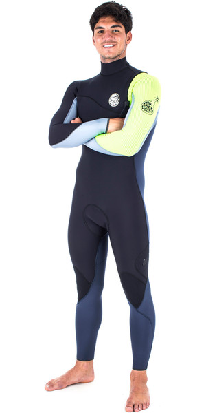 Rip Curl Flashbomb 3/2mm Zip Free Wetsuit FLURO LEMON WSM6RF
