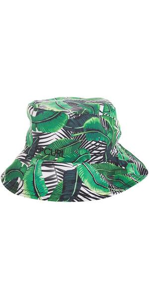Rip Curl Island Palms Revo Reversible Bucket Hat BIANCO / VERDE GHACJ1