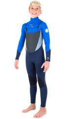 Rip Curl Junior Dawn Patrulha 5 / 3mm GBS Peito Zip Wetsuit BLUE WSM6GB