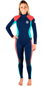 Rip Curl Delle Donne Dawn Patrol 4/3mm Gbs Back Zip Muta Navy Wsm6fw