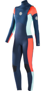 Rip Curl Womens Dawn Patrol 4/3mm GBS Chest Zip Wetsuit NAVY WSM6JW