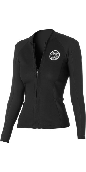 Rip Curl Womens Dawn Patrol 1.5mm Langærmet Neo Jacket Sort WVE4BW