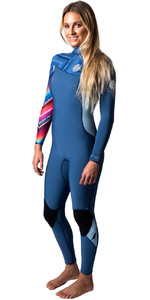 Rip Curl G-bomb Para Mujer 4/3mm Gbs Zip-free Azul Wsm6ig