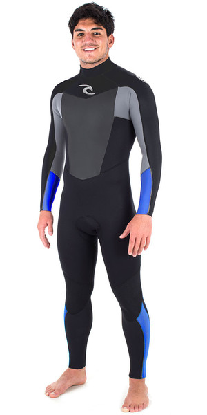 2018 Rip Curl Omega 3 / 2mm GBS Back Zip Wetsuit BLUE WSM6LM