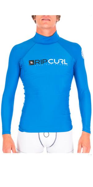 Chaleco Rash Rip Curl Shock de manga larga y cuello alto en azul WLE5MM