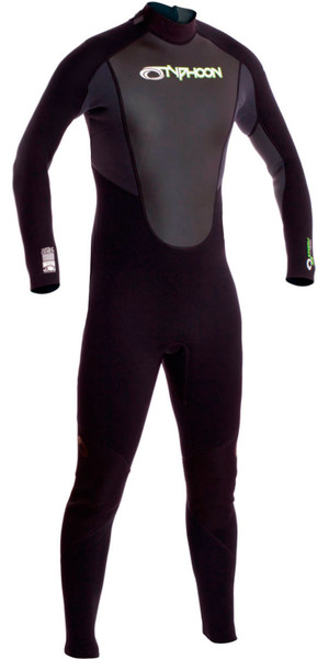 2019 Typhoon Junior Storm 3/2mm Flatlock Wetsuit Graphite 250921