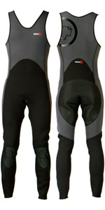 2020 Yak Kayak 'Step In' 3mm Long John Wetsuit Grijs / Zwart 5405-A
