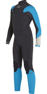 Billabong Boys Absolut Comp 4 / 3mm Bröst Zip Wetsuit BLACK SANDS F44B13