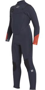Billabong Jongens Absolute Comp 4/3mm Wetsuit Met Chest Zip Leisteen Blauw F44b13