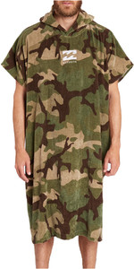 2018 Billabong Mens Vader Hooded Changing Robe / Poncho CAMO C4BR02