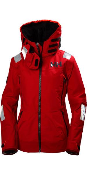 2018 Helly Hansen Womens Aegir Race Jacket ALERT RED 33884