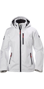 2020 Helly Hansen Womens Crew Hooded Jacket White 33899