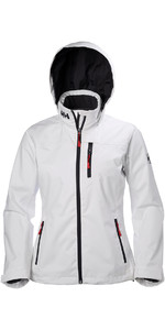 2020 Helly Hansen Womens Hooded Crew Mid Layer Jacket White 33891