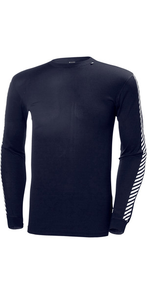 2019 Helly Hansen Lifa Stripe Couche Cou Base Layer LS Haut GRAPHITE 48800