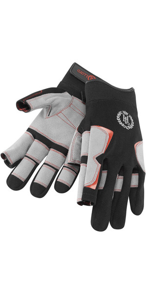 2019 Henri Lloyd Deck Grip Long Finger Glove NEGRO Y80055