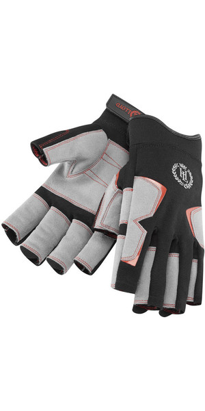 2019 Henri Lloyd Deck Grip Short Finger Glove NEGRO Y80056