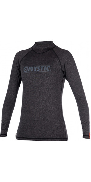 2018 Mystic Star Ladies Rash Vest manica lunga NERO 170345