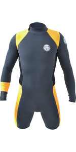 Rip Curl Boys Aggrolite 2MM Long Sleeve Shorty Wetsuit CHARCOAL GREY WSP6CJ