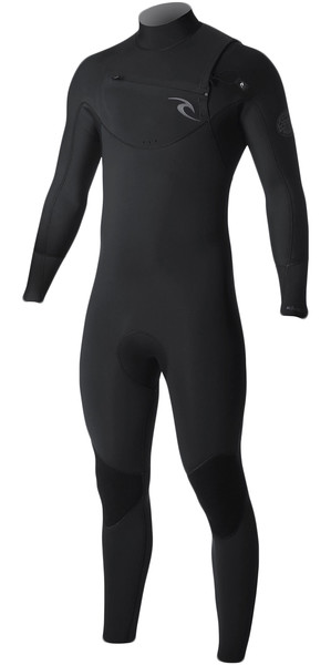 2017/18 Rip Curl Dawn Patrol 4 / 3mm Combinaison cycliste Zip BLACK WSM7CM