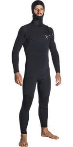 2019 Rip Curl Dawn Patrol 5/4mm Wetsuit Met Chest Zip Zwart WSM7SM