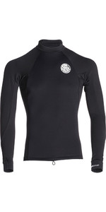 2019 Rip Curl Flashbomb 0.5mm Neoprene / Lycra Long Sleeve Top BLACK WVE7NM