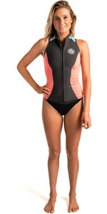 Rip Curl Womens G-Bomb 1mm Front Zip Neoprene Vest CORAL WVE6AW