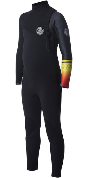 2018 Rip Curl Junior Flashbomb 4 / 3mm Zip Free Wetsuit ARANCIONE WSM7MS