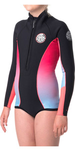 Rip Curl Junior Girls G-Bomb 1mm Longy Shorty Wetsuit BRIGHT PINK WSP4LJ