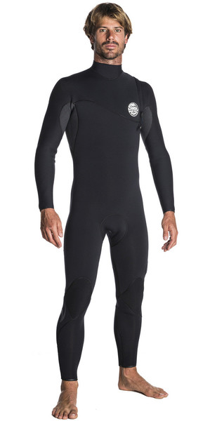 2018 Rip Curl E-Bomb Pro 5 / 3mm Zip Free Wetsuit NEGRO WSM7PE