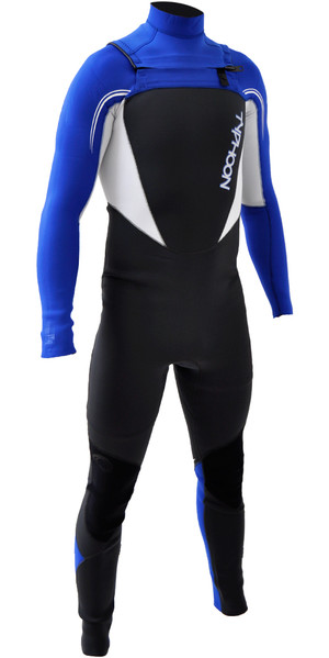 2018 Typhoon Junior Boys TX2 3 / 2mm Chest Zip Wetsuit ROYAL AZUL / BLANCO 250901
