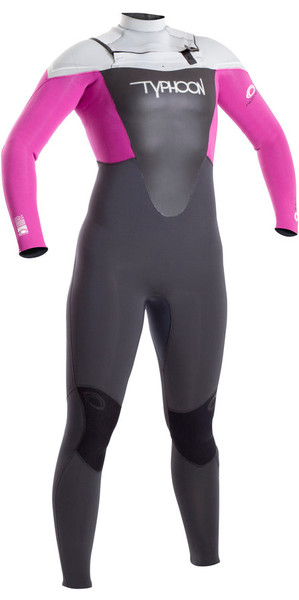 2018 Typhoon Junior Girls TX2 3 / 2mm Chest Zip Traje de neopreno CLOUDBERRY 250906