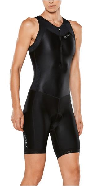 2XU Womens X-Vent Front Zip Trisuit BLACK WT4365D