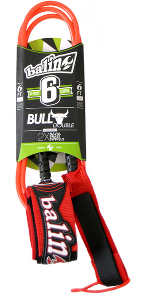 Balin Bull Series 7mm Correa Giratoria Doble Roja - 6 pies