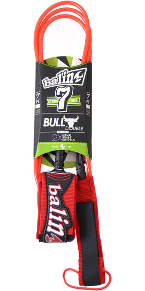 Balin Bull Series 7mm Correa giratoria doble roja - 7 pies